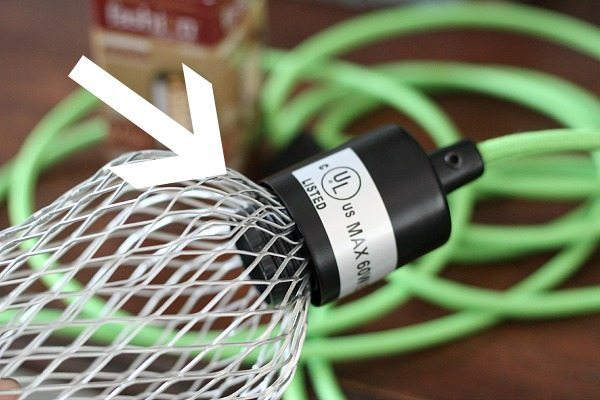 How to make a cage for a swag light