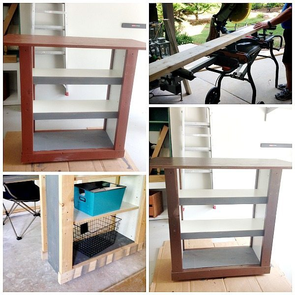 Ikea Bookcase Hack - Bookcase to Bar Table