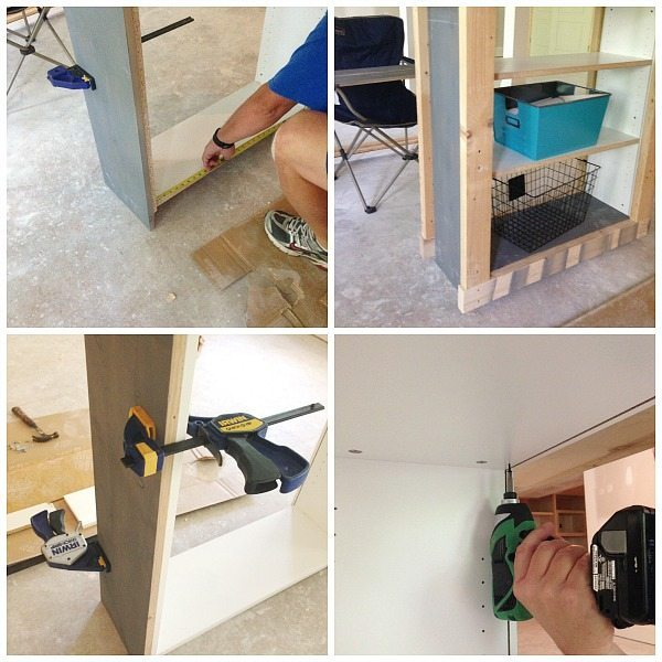 Ikea bookcase transformed