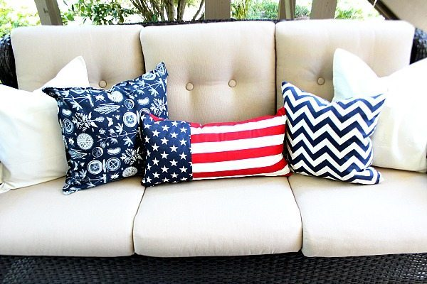 Pillows make changing decor easy!