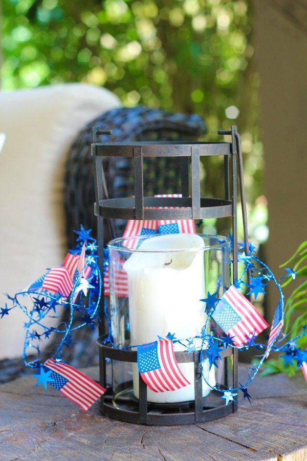 Stars and stripes on a candle holder