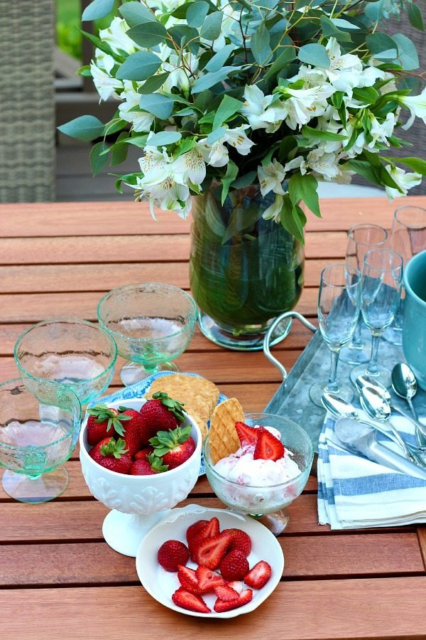 Summer Strawberries - Ice cream Recipe in Birch Lane Seeger Ice Cream Bowls