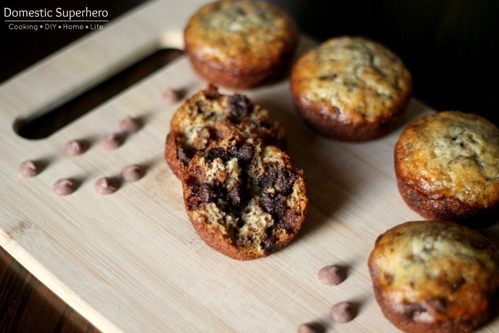 11 - Domestic Superhero - Chocolate Chip Banana Muffins