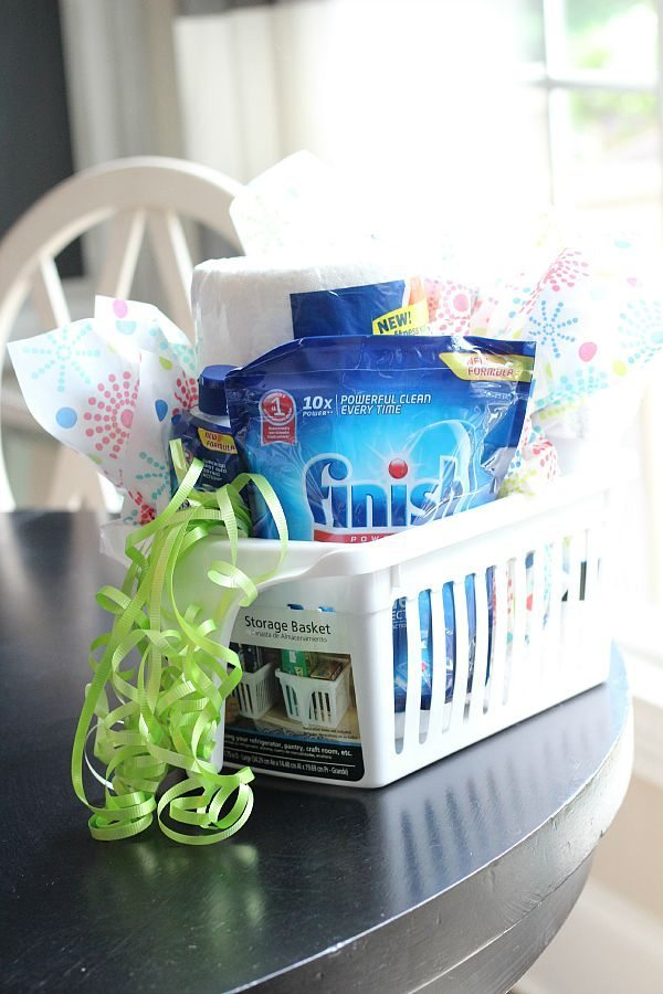 Add ribbon and tissue paper for a cute gift idea  Welcome Home