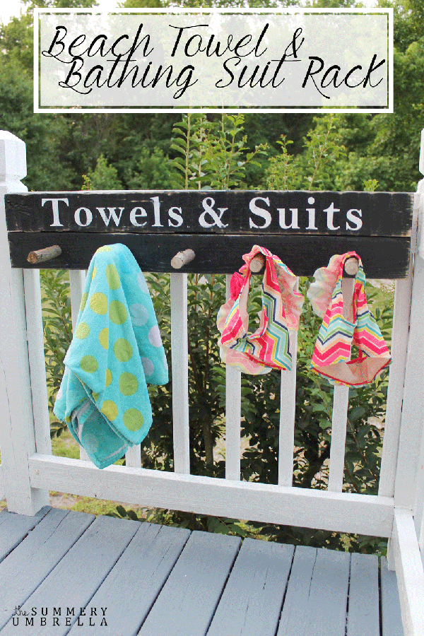 Beach Towel and Bathing Suit Rack