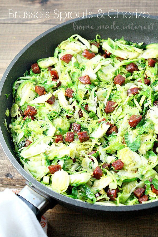 Brussels Sprouts and Chorizo Recipe