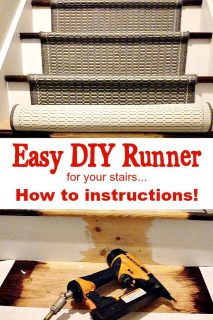 Easy instructions for adding a runner to your stairs