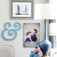 Family Room Gallery wall idea