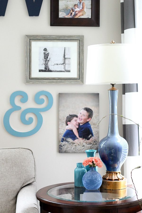 Family Room Gallery wall idea