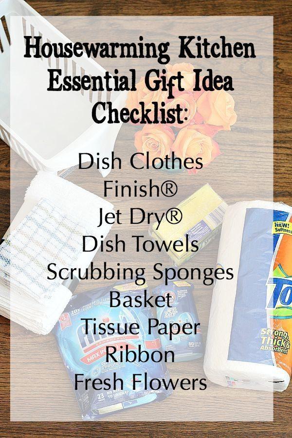 Housewarming gift idea checklist