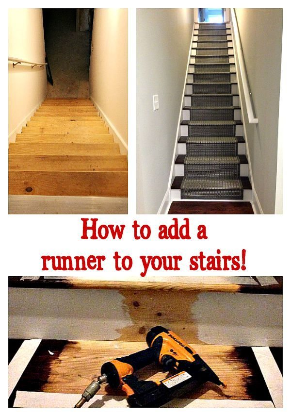 How to add a runner to your basement stairs