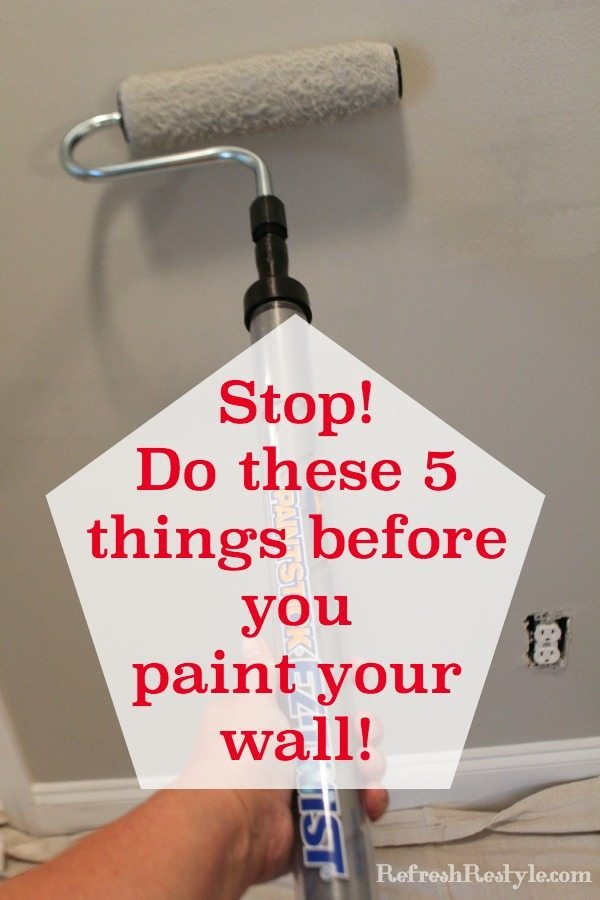 How to prep walls before painting refresh restyle Priming walls before painting