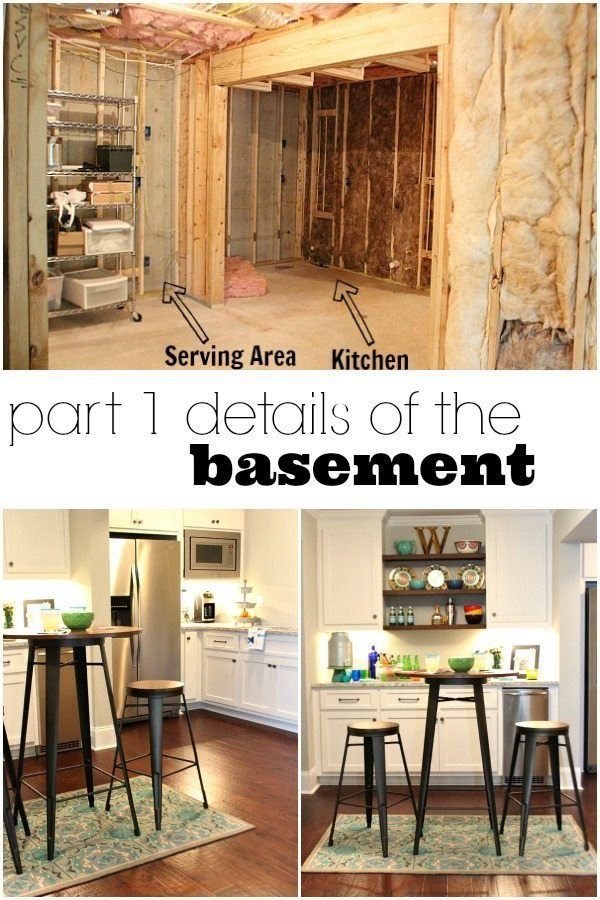 From gutted to finished! Tips on decorating a kitchen in the basement! Light and bright for a basement.