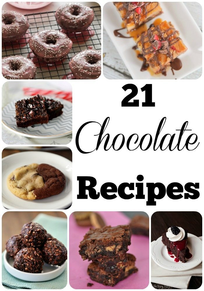 21 Chocolate Recipes - gooey chocolate recipe collection perfect for chocolate lovers