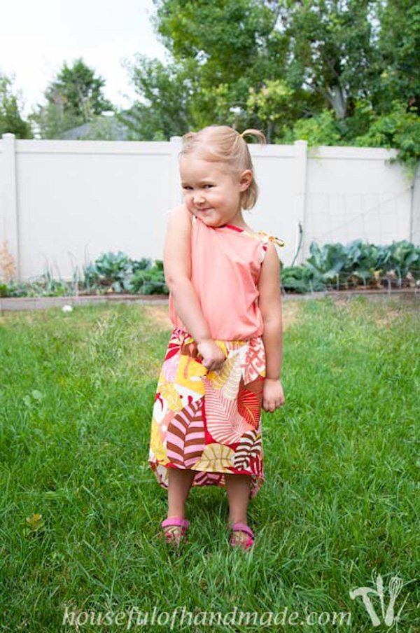 Toddlers High Low Skirt