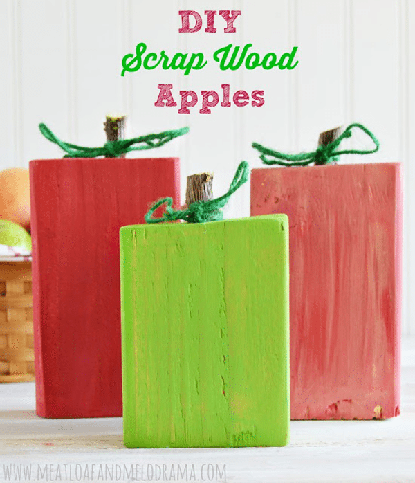 Apples from wood scrapes