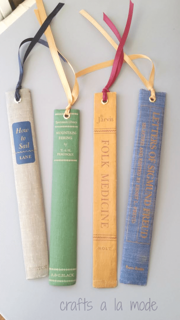 Book marks made from Bookends