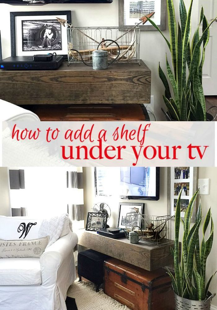 How to add floating shelf under your tv - Instructions for an affordable DIY floating shelf