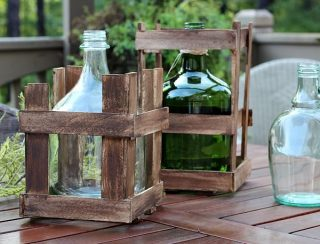 Make a Demijohn crate - instructions included RefreshRestyle.com