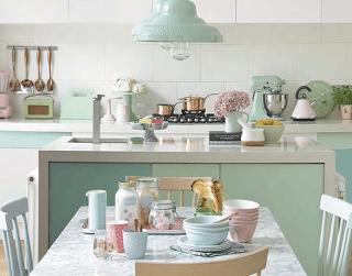Pastel Kitchen from Inspiration Monday