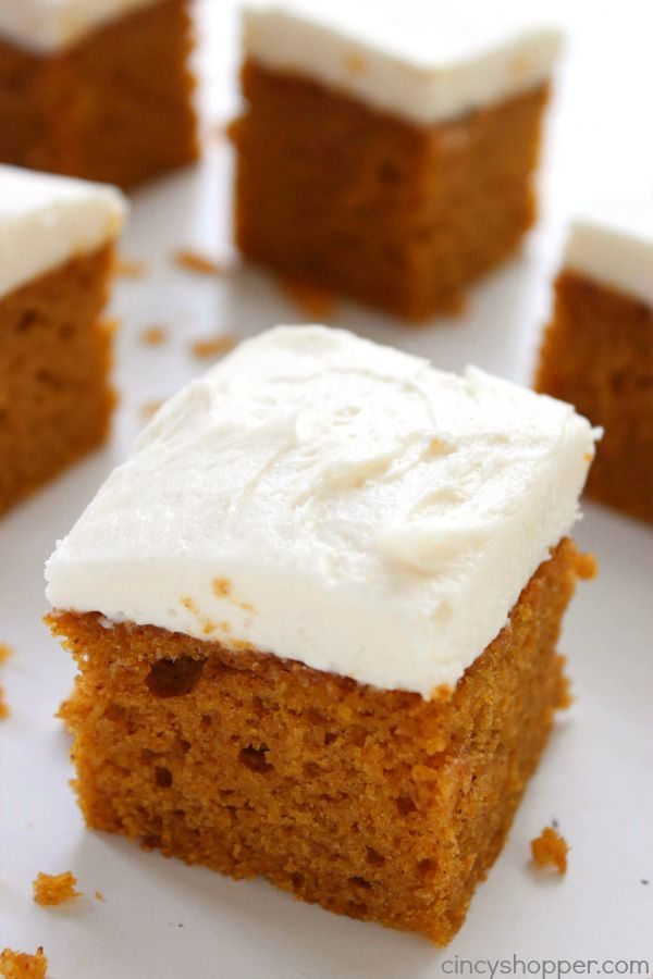 01 - Cincy Shopper - Pumpkin Cake with Cream Cheese Frosting
