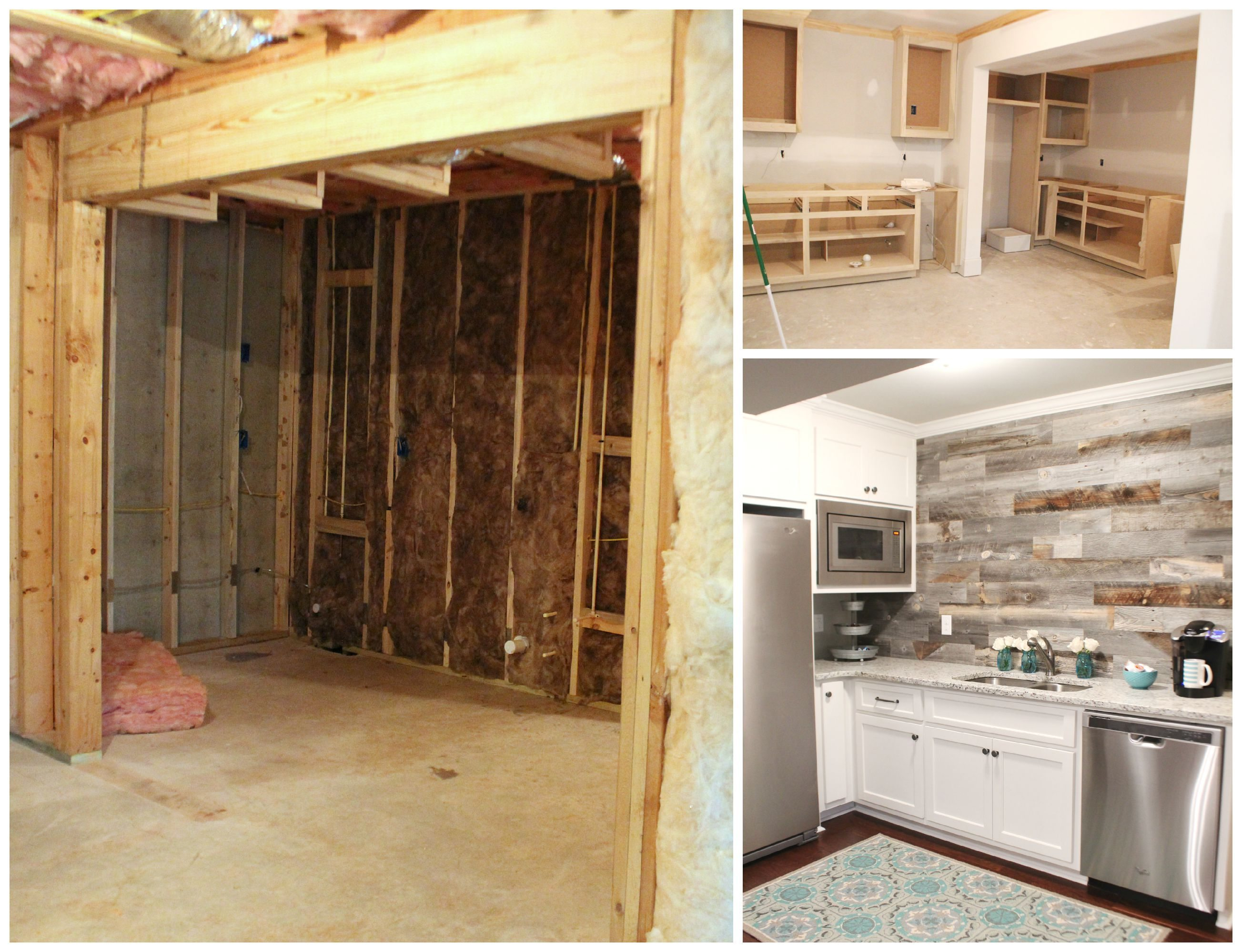 Basement kitchen area before and after refreshrestyle.com