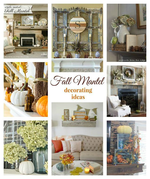 Beautiful fall Mantel ideas, pumpkins, crates, naturals, creative ideas to inspire you refreshrestyle.com