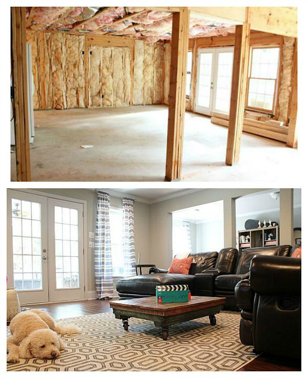Basement Makeover Before And After