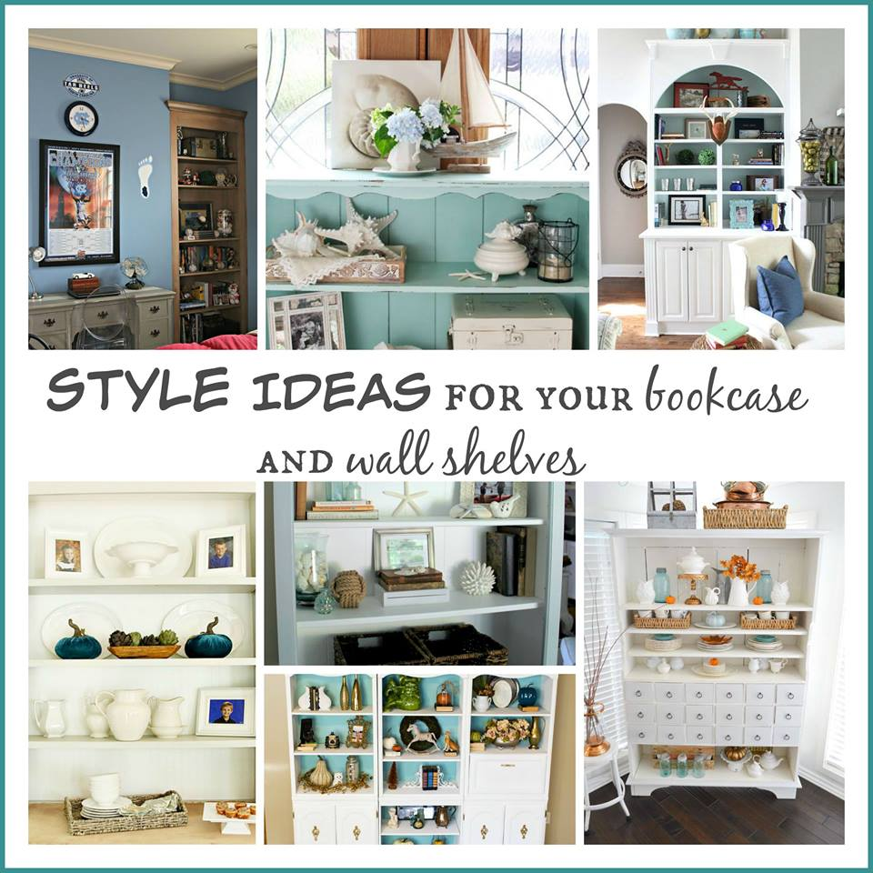 Bookcase and Shelf styling Ideas tons of decor ideas for you to try at refreshrestyle.com