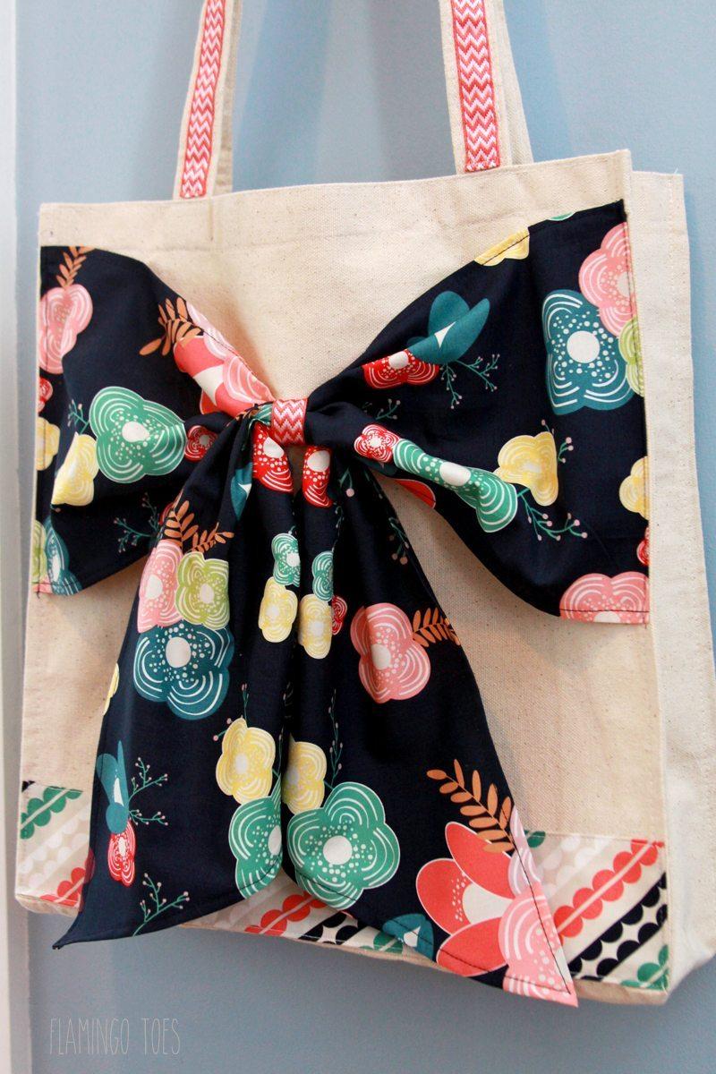 Cute-Fabric-Bow-Tote
