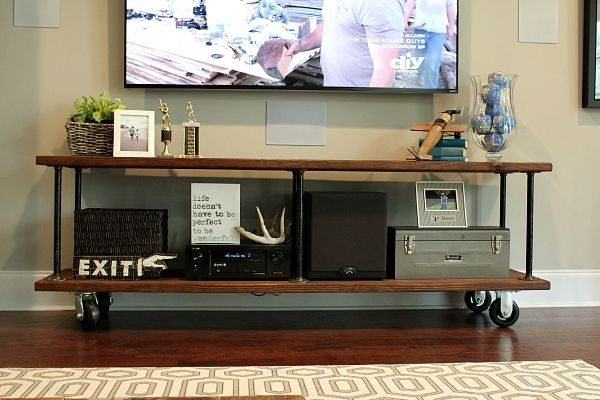 How To Build An Industrial Console Table Refresh Restyle