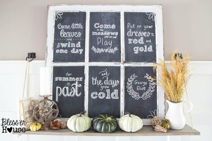Fall-Chalkboard-and-Shelf-Vignette
