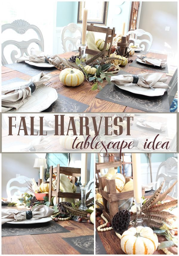 Fall Harvest table idea for a beautiful bountiful harvest on your farmhouse table refreshrestyle.com