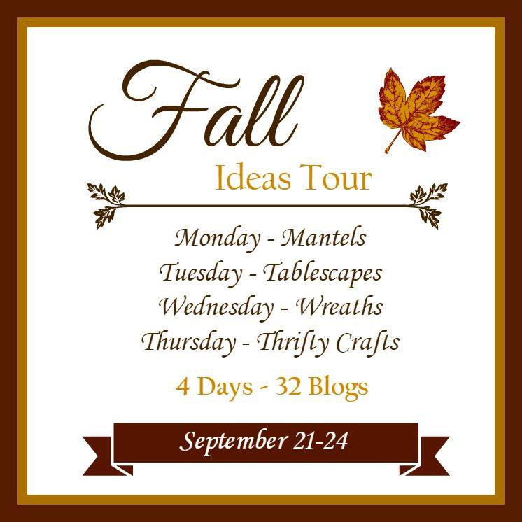 Fall Home Tours ideas for mantels, tablescapes, wreaths, thrifty crafts