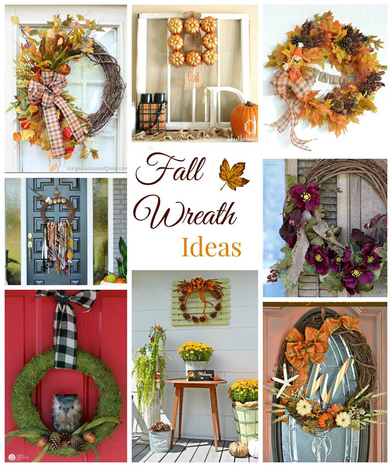 Fall Wreaths tons of ideas - beautiful and directions included refreshrestyle.com