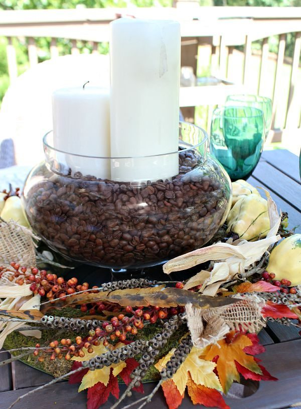 Fall centerpiece idea at refreshrestyle.com