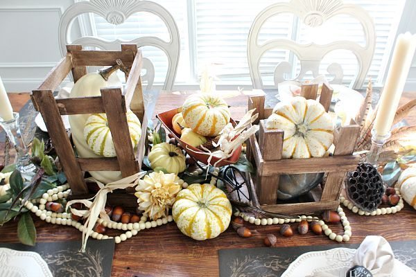 Fall harvest idea for our farm table refreshrestyle.com
