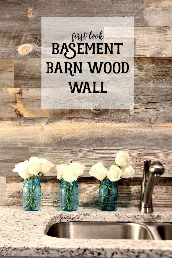 First look Basement Barn Wood Wall