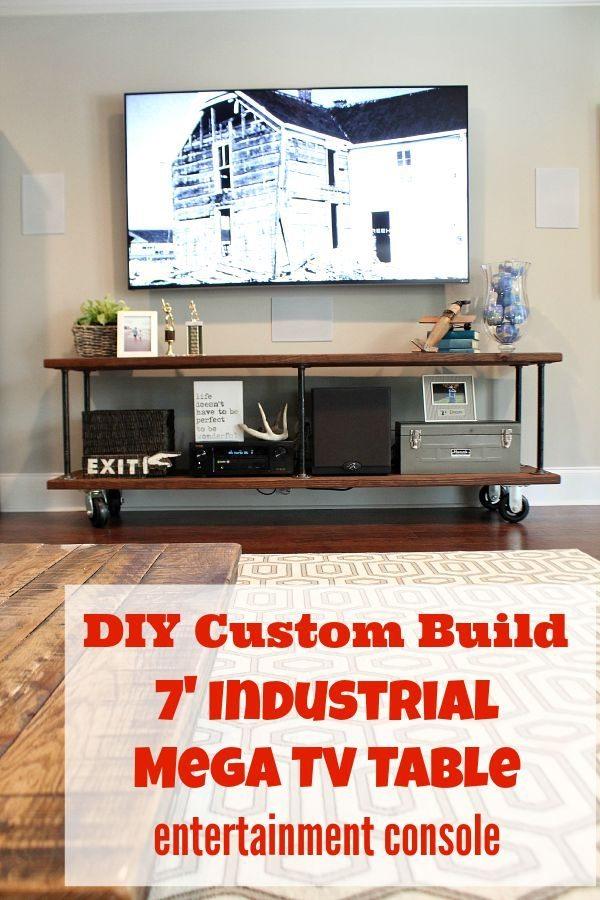 How To Build An Industrial Console Table U2013 Custom, Heavy Duty, Mega 7u2032 Long