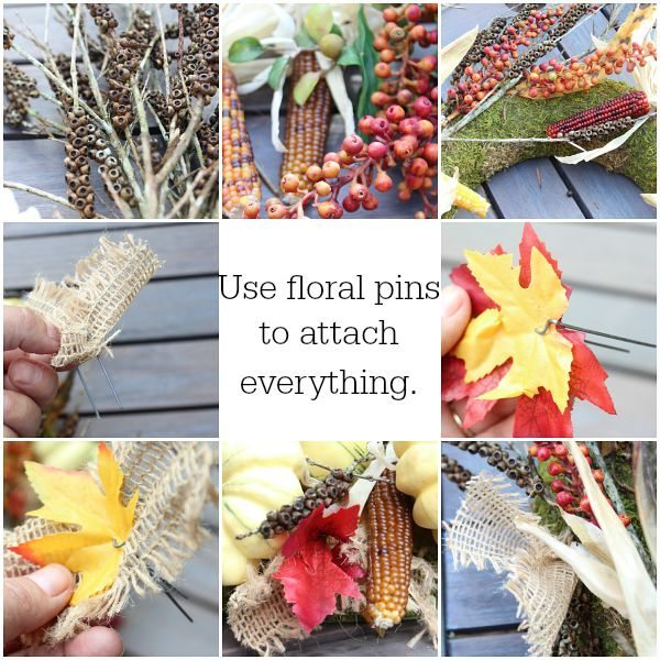 Make a nature inspired fall centerpiece at refreshrestyle.com