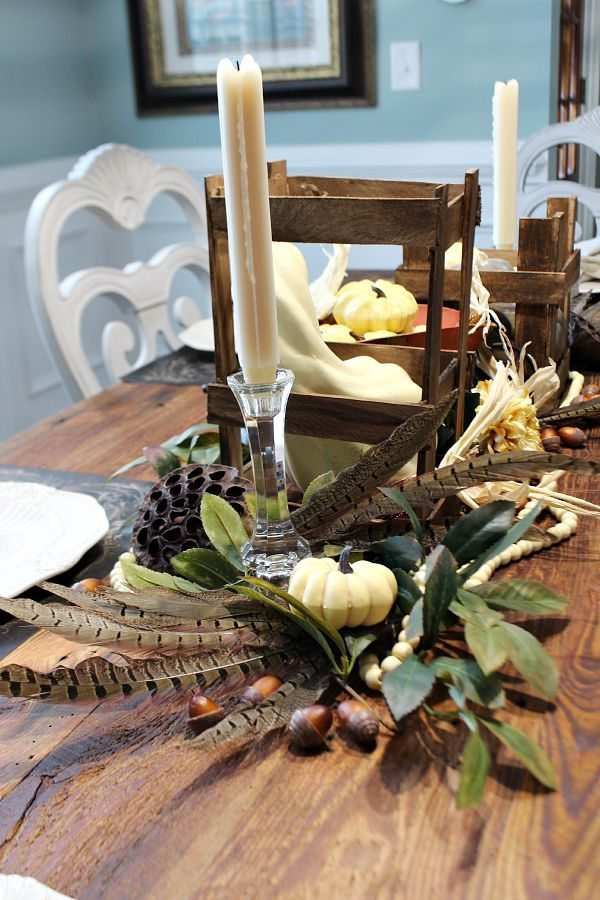 Neutral fall decor idea for your table refreshrestyle.com