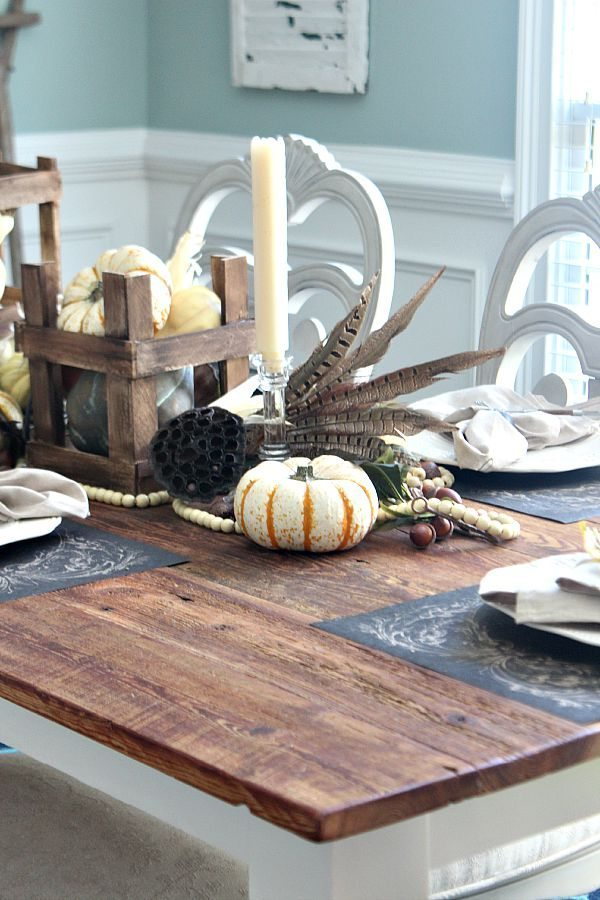 Neutral gathered harvest idea for farm table refreshrestyle.com