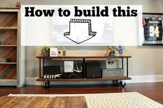 how to build an industrial table to go under the tv at refreshrestyle.com
