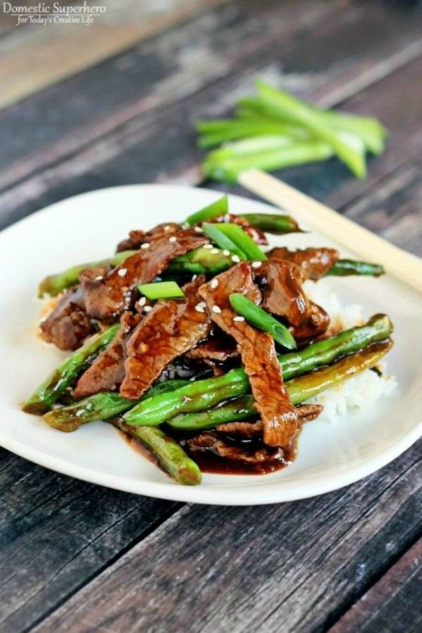 08 - Domestic Superhero for Todays Creative Life - Chinese beef with Green Beans