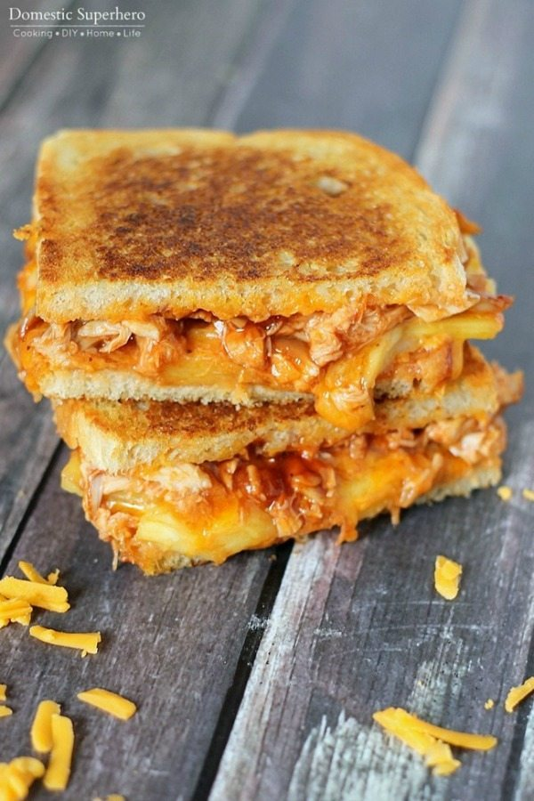 09 - Domestic Superhero - BBQ Chicken Pineapple Grilled Cheese