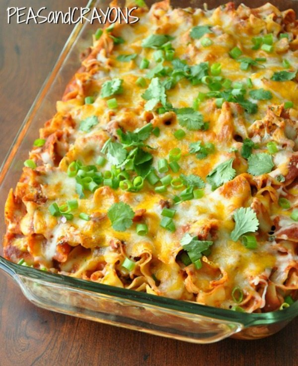 10 - Peas and Crayons - Fiesta Enchilada Casserole