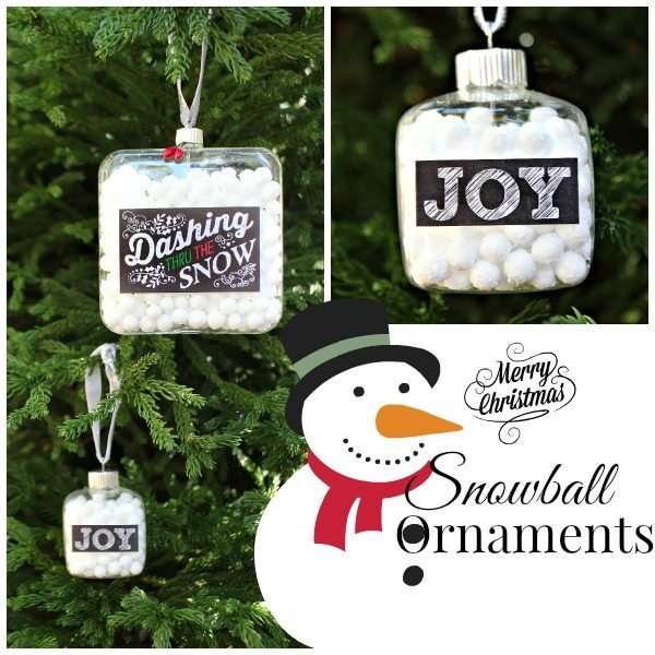 DIY snowman ornaments, great idea for fun handmade ornaments at refreshrestyle.com
