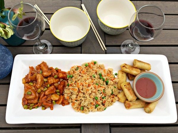 Dinner for two on the deck, yummy and quick P. F. Chang's frozen menu for home at refreshrestyle.com
