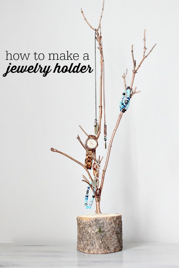 How to make a jewelry holder refresh restyle for Tree branch jewelry holder