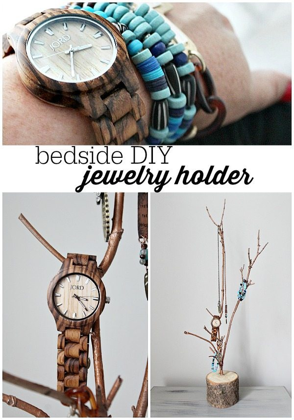 How to make the perfect natural bedside jewelry holder to hold your JORD #jordwatch wood watch